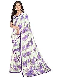 Jaanvi Fashion Women's Georgette Printed Saree