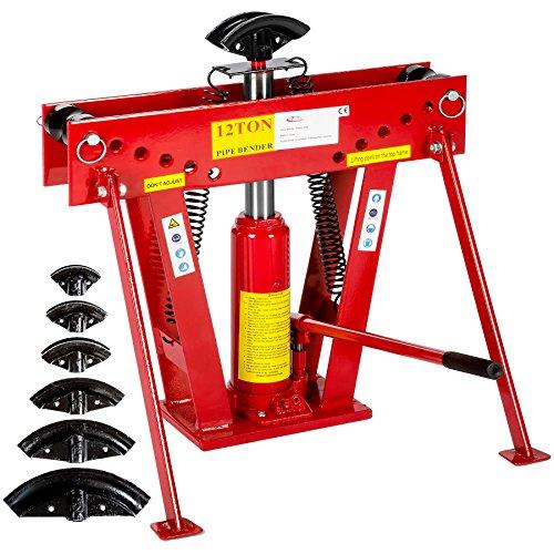 TecTake Cintreuse hydraulique presse à cintrer 12T + 6 matrices 43 kg