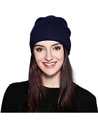 FLY HAWK Cappello Beanie di Lana da Donna Invernali - Berretto Cuffia  Elastici Donna Ragazza Elegante ee2314195213