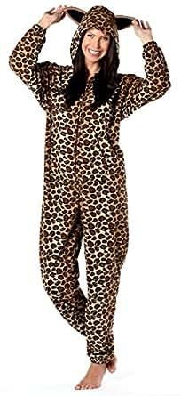 octave damen schlafanzug overall mit kapuze katzen. Black Bedroom Furniture Sets. Home Design Ideas