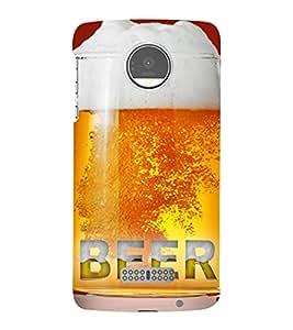 Beer in the Mug 3D Hard Polycarbonate Designer Back Case Cover for Motorola Moto Z :: Motorola Moto Z Droid in USA