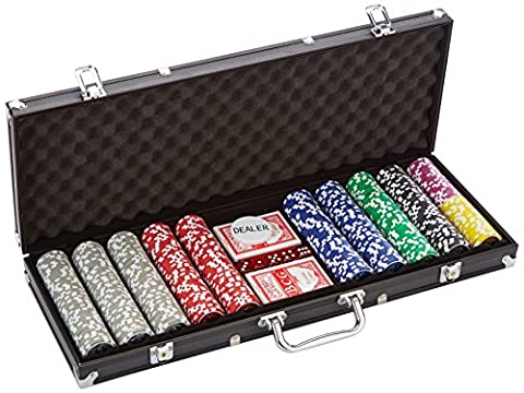 Coffret de poker ultime Black Edition - 500 jetons laser