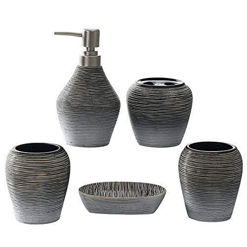 NPZ * Retro Mundschale Keramik Badezimmer Fünf-teiliges Badezimmer Körperpflegeset Badezimmerzubehör