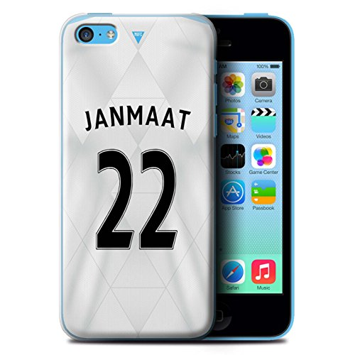 Offiziell Newcastle United FC Hülle / Case für Apple iPhone 5C / Pack 29pcs Muster / NUFC Trikot Away 15/16 Kollektion Janmaat