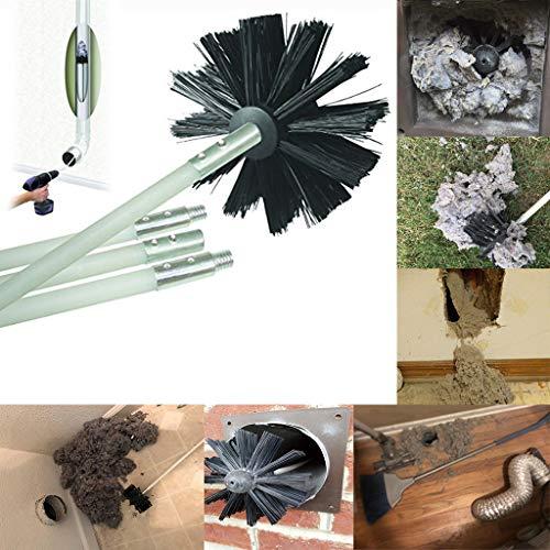 Syeytx-Trockner-Kanalreinigungsset Fusselentferner bis zu 8 Fuß Synthetische Kesselbürste Kaminbürste Bürstenkopf