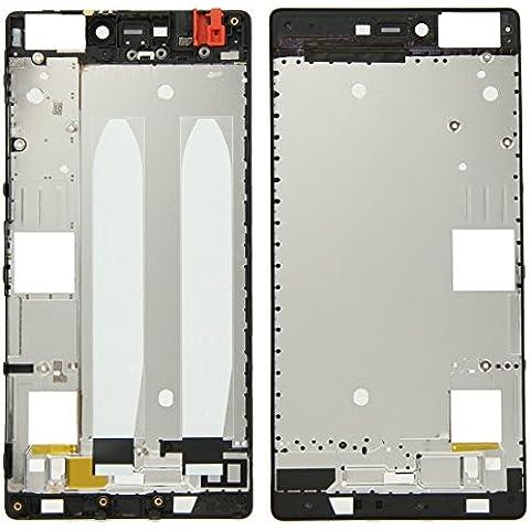 Piezas de repuesto de teléfonos móviles, iPartsBuy frontal de la carcasa del LCD de la placa del bisel del capítulo para Huawei P8 ( Color : Negro )