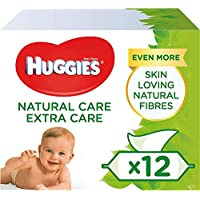 Huggies Natural Care Extra Care Baby Wipes, 12 Packs (672 Wipes)