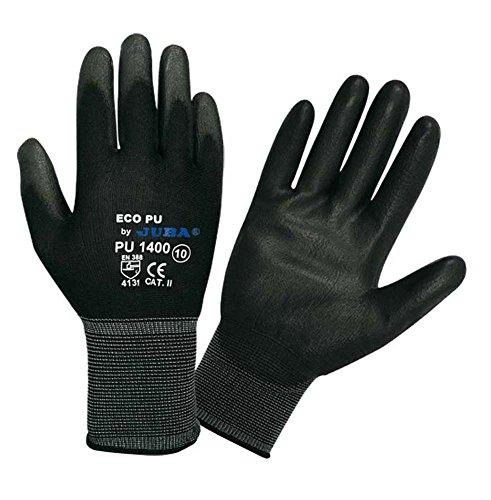 6x paia Giuba Econit nero ricoperto in nitrile industriale meccanico Workwear dpi guanti, Large (9), 6