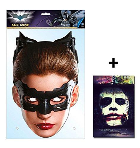 Catwoman Offiziell DC Comics Batman Single Karte Partei Gesichtsmasken (Maske) Enthält 6X4 (15X10Cm) starfoto
