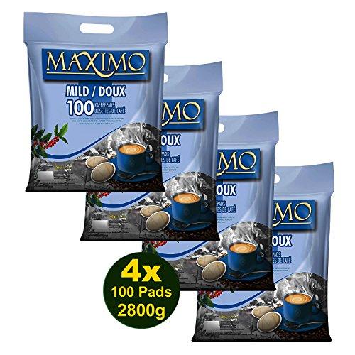 MAXIMO MILD Kaffeepads 4x 100 Pads (2800g) - Aromatisch, Mild