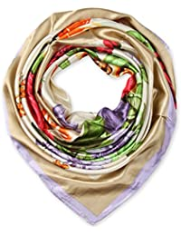 corciova Elegant Women's Large Square Silk Feeling Satin Hair Scarf Neckerchief 35 x 35 inches