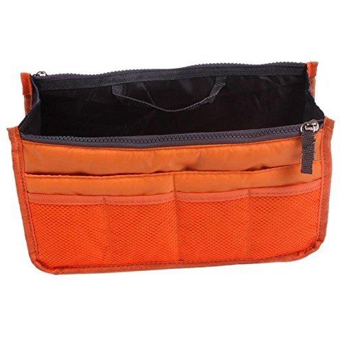 Aeoss Multipocket Handbag Organizer Travel, Make Up Bag For Women And Men-Orange