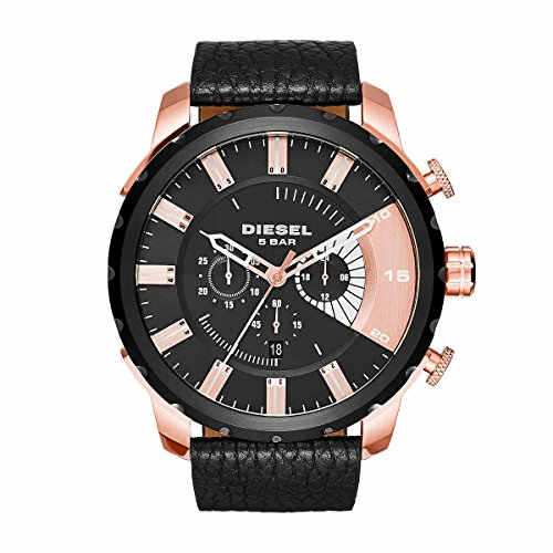 diesel-stronghold-mens-quartz-watch-with-multicolour-dial-analogue-display-and-black-leather-bracele