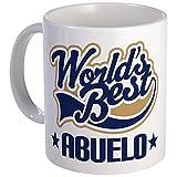 Cafepress mug–Worlds Best Abuelo–unico tazza di caffè, 311,8gram tazze in tazza di caffè, tè, White, small
