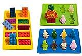 GKA 3er Set Backform Eiswürfelbereiter Pralinenform Eiswürfelform Lego Bausteine Fondant Schokolade