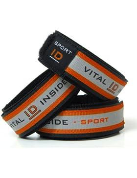 Vital ID Sport-ID Radfahrer/Läufer Warnschutz ICE Medizinisches Armband rot gelb - Sport ID EU / UK