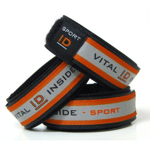 Sport ID Waterproof Reflective Fabric Wristband