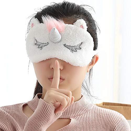 Schlafbrille ebay Silber Unicorn Horn nettes Mädchen Verkauf Schlafbrille Schlafbrille Beschattung silber