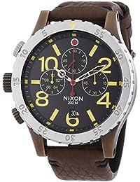 Nixon  A363-1625-00 - Reloj de cuarzo para hombre, con correa de cuero, color marrón