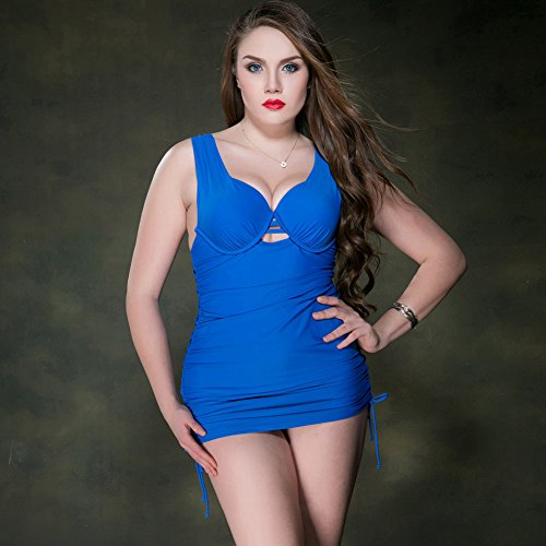 Mme summer maillot de sa capture Mme Western Style Jupe maillot de bain grande taille -YU&XIN Blue