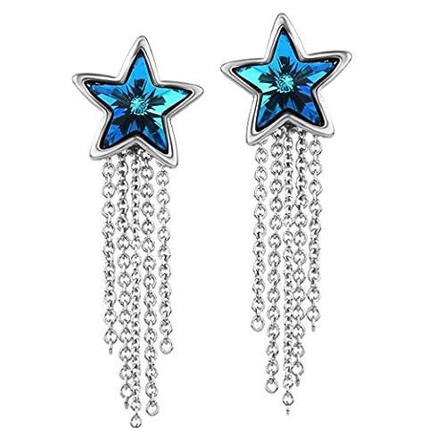 Neoglory Jewellery mit Swarovski® Elements Ohrringe Stern hängend