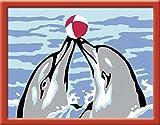 Ravensburger 29593 - Spielende Delfine - Malen nach Zahlen, 8.5 x 12 cm