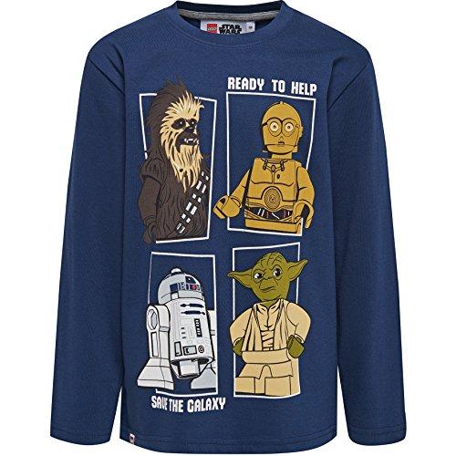 LEGO Jungen T-Shirt 19895 Blau (Dark Navy), 110 cm (Günstige Star Wars T Shirts)