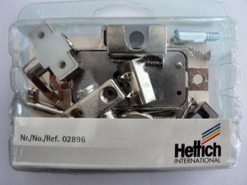 Hettich Drehstangenschloß links, gleichschließend, vernickelt, Dornmaß 25 mm, 1 Set, Artikelnr. 2896