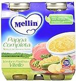 Mellin Pappa Completa Verdure Pastina e Pollo - 12 Vasetti x 250 gr