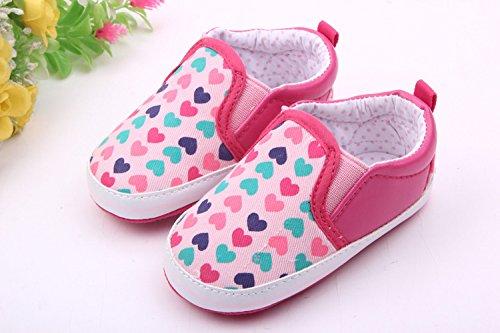 Bigood Bilder Druck Muster Baby Mädchen Schuh Lauflernschuhe Krabbelschuhe Pink
