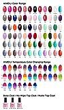AIMEILI UV LED Gellack ablösbarer Gel Nagellack Verschiedenen Farben Gel Nail Polish Sets Kit – Wählen Sie 3 Farben á 10ml