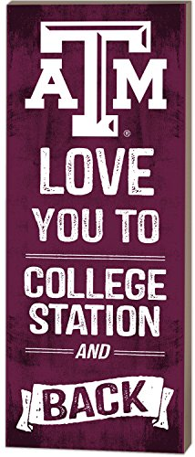 Texas Collage (KH Sports Fan 17,8x 45,7cm Texas A & M Aggies Love You To Collage Logo Plaque)