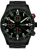 Astroavia Herren-Armbanduhr Chronograph Quarz mit Edelstahl Armband N37BS