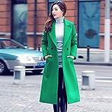BHYDRY Womens Fashion Herbst Winter Lange Wollmantel Parka Outwear Strickjacke(EU-42/CN-XL,Grün) Vergleich