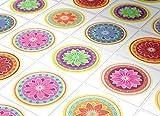Fliesenaufkleber Wand Färbung Mandalas Deko Orientalische Küche Ideen (Packung mit 24) (BODEN - 10 x 10 cm)