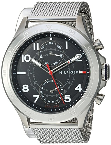 Tommy Hilfiger Men's Quartz Stainless Steel Casual Watch, Color:Silver-Toned (Model: 1791342)