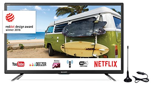 SHARP LC-24CFG6132EM 60,96 cm (24 Zoll) Full-HD Smart Fernseher (Triple Tuner DVB-T/T2HD, DVB-S/S2, DVB-C, HEVC H.265) Sharp-tv-sound