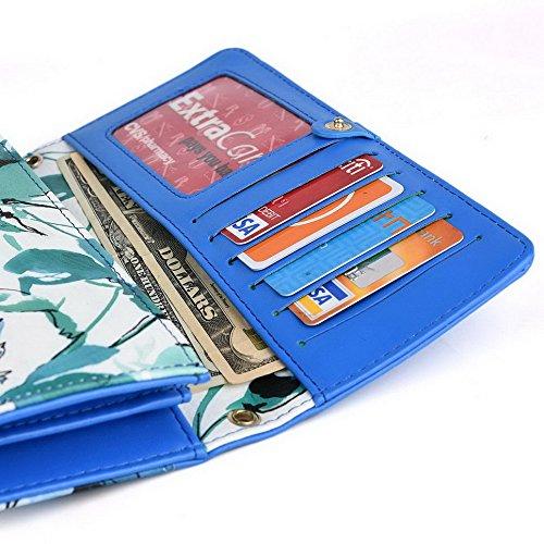 Kroo Pochette Crocodile pour portefeuille et étui pour Alcatel One Touch M Pop 5020D Noir Multicolore - vert Multicolore - vert