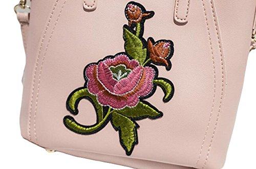 Damen PU Schultertasche Einfache Handtasche Eimer Typ Kortikale Schräge Kreuz Paket Grey