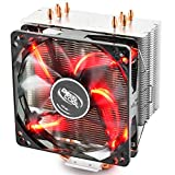 DEEPCOOL GAMMAXX 400 Ventilateur de processeur PC,4 Heatpipes,Ventilateur 120mm PWM,Fourni avec la pâte Thermique;AM4 Compatibilité