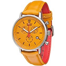 DeTomaso Men's Quartz Watch Chronograph Display and Leather Strap DT1052-U