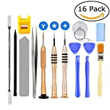 AUTOPkio 16 en 1 Kit de herramientas de reparación para iPhone 7, Juego de herramientas de apertura con juego de destornilladores magnéticos, Magnetizador / Desmagnetizador para iPhone 6, iPod, iTouch