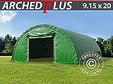 Dancover Rundbogenhalle Lagerzelt Zeltgarage Garagenzelt 9,15x20x4,5m, PVC, Grün