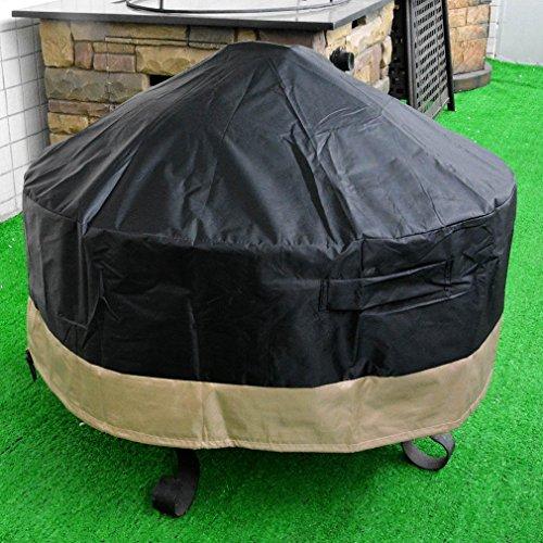 stanbroil Full Deckung rund Fire Pit Cover/Tisch, schwarz, 102cm