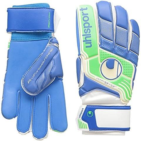 uhlsport Torwarthandschuhe Fangmaschine Soft Blue - Guantes de portero para fútbol, color multicolor (pazifik/fluo grün), talla 9