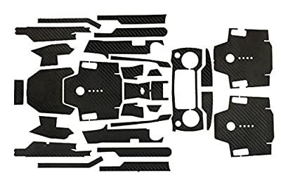 Feicuan Waterproof Carbon Fiber Stickers Decal Wrap Skin Cover Kit for DJI Mavic Pro Drone Controller