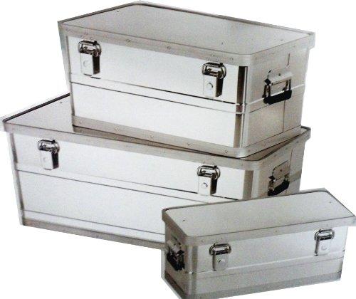 Preisvergleich Produktbild 3 Teiliges ALUBOXEN SET 25L, 45L und 90L BOX;AUFBEWAHRUNGSBOXEN;ALUMINIUMBOX;ALU;TRANSPORTBOX;BOX