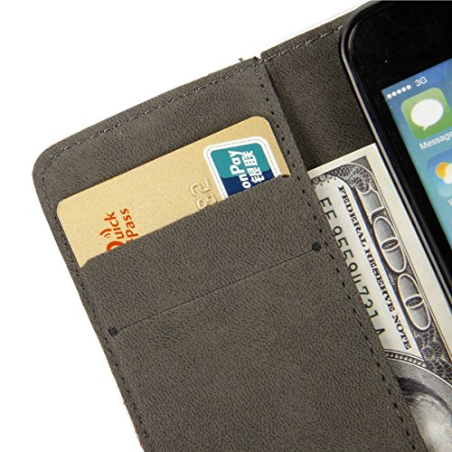 iPhone 6S Hülle, iPhone 6 Hülle, iPhone 6 / 6S PU Leder Relief Hülle Tasche Handyhülle, iPhone 6 / 6S Ledertasche im Bookstyle Brieftasche Flip Case mit Silikon Backcase, SainCat Premium Design Luxus  Bär Patch