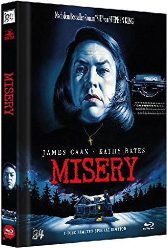Misery - Limited Special Collectors Mediabook Edition auf 999 Stk. (Cover A) [Blu-ray] [1990]