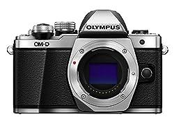 Olympus OM-D E-M10 Mark II Micro Four Thirds Systemkamera, 16 Megapixel, 5-Achsen Bildstabilisator, elektronischer Sucher, silber